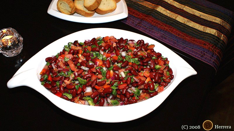 redbeansalad3 Simple Red (Kidney) Bean Salad 