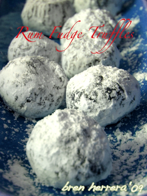 rumballs3  Rum & Grand Marnier Fudge Truffles 