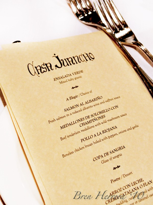 menu1 Celebrating Abuelos 90th Birthday at Casa Juancho, Miami