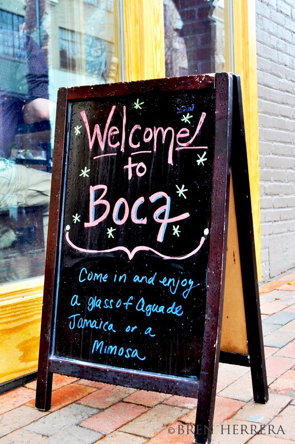 BOCAstandingsign BOCA. A Mouthful of Tex Mex Fusion