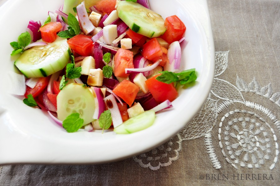 Salad1 Losing Weight Can Look Like This. An Easy Breezy Salad With Fig & Lavender Vinegars