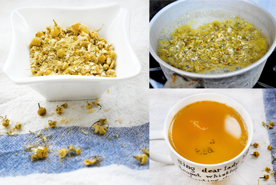 ChamomileCollage Starting the New Year, Stress free. Chamomile Sipping At Night.