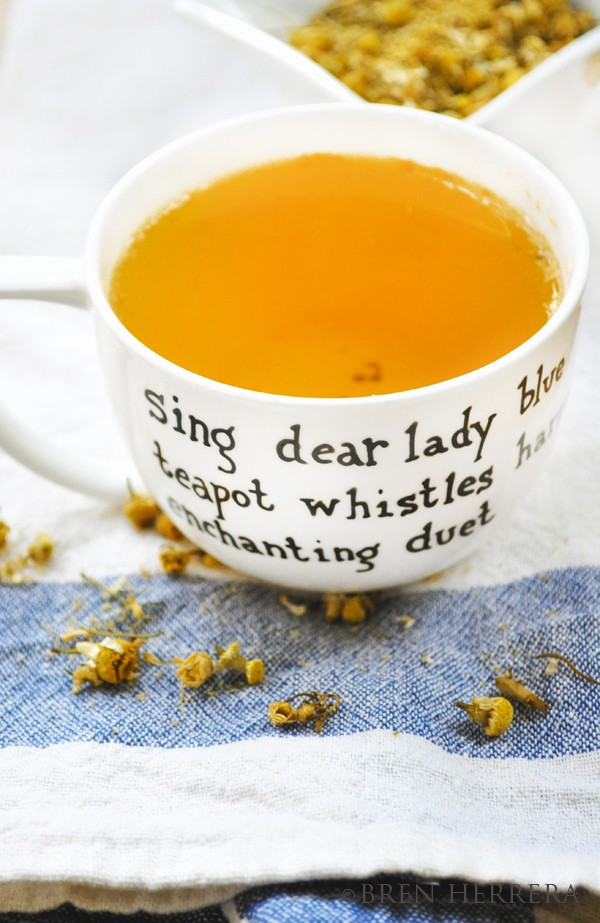 ChamomileVerticalCup Starting the New Year, Stress free. Chamomile Sipping At Night.