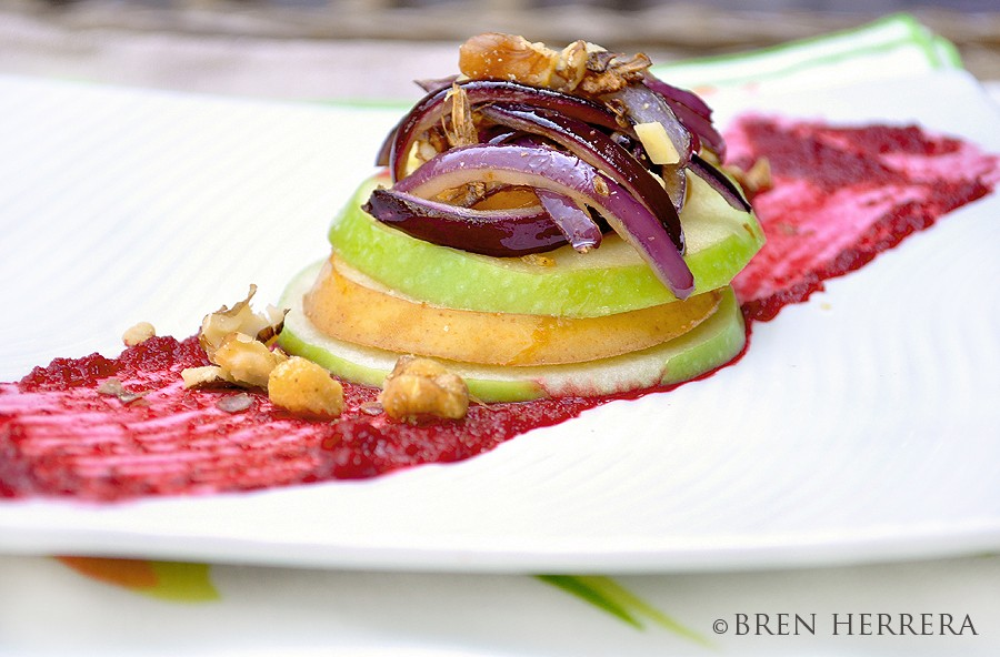 Salad2 Beet Pure and Fruit Salad w/Caramelized Onion & Ginger Recipe