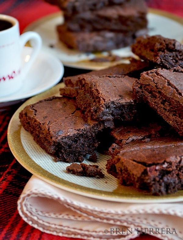 EspressoBrownie4 Espresso Infused Dark Chocolate Brownies {And Orange Essence}