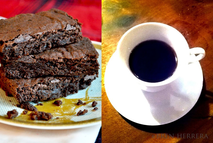 EspressoBrownieCollage1 Espresso Infused Dark Chocolate Brownies {And Orange Essence}