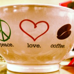 PeaceLoveCoffeeMug