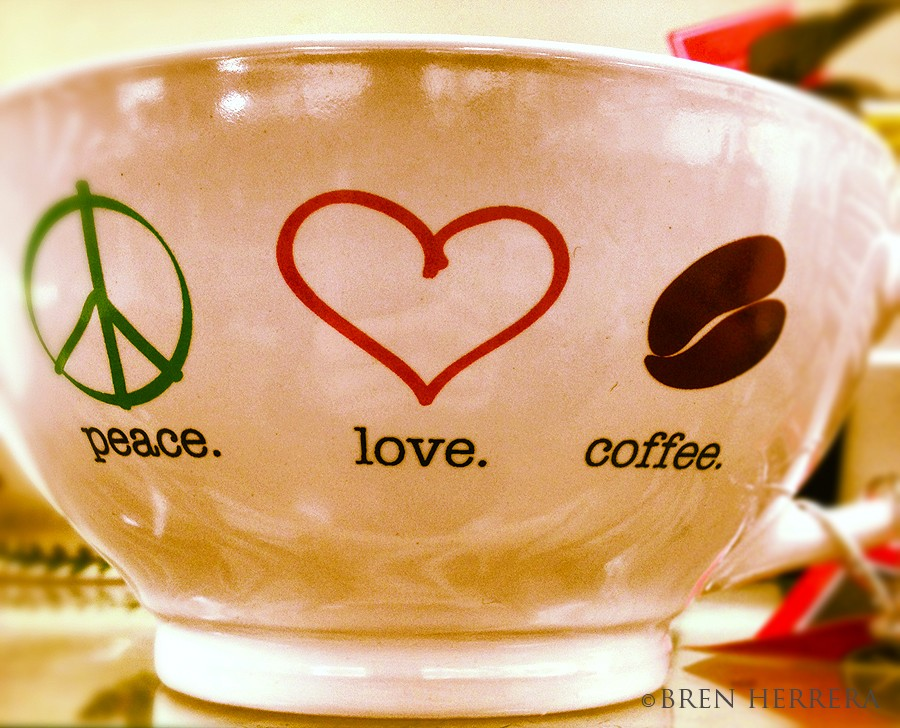 PeaceLoveCoffeeMug Caf on the Go, Go! 