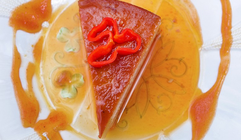 Spicy Ricotta Guava Flan Slice